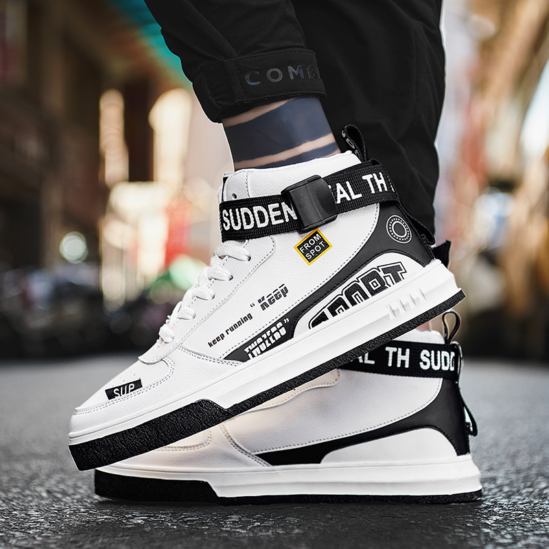 COOLVFATBO Men's Fashion Casual Shoes High Top Sneaker 2019 Spring New Men Shoes High Quality Non-slip Walking Shoe Zapatillas