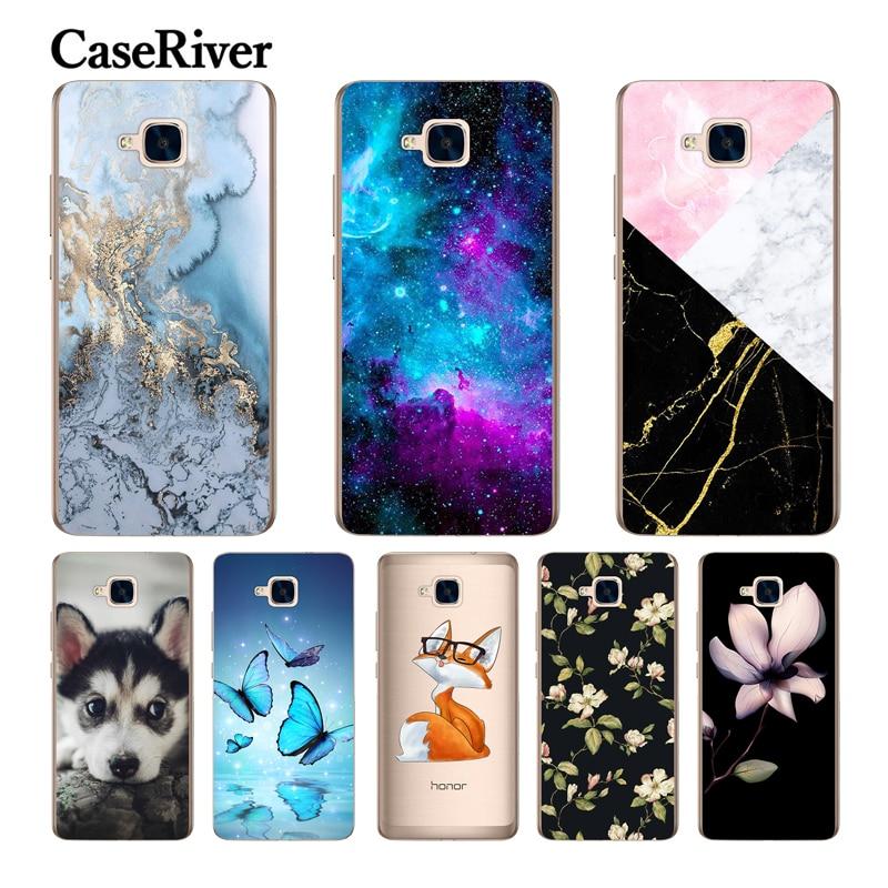 CaseRiver Silicone Macio (Versão Russa) Para Huawei Honor 5C Caso Capa Sem Impressão Digital Telefone TPU Shell Traseiro Para Huawei Honor 5C