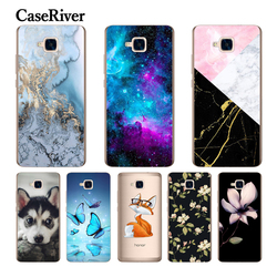 CaseRiver Silicone souple (Version russe) pour Huawei Honor 5C housse de protection sans empreinte digitale téléphone coque arrière en polyuréthane thermoplastique pour Huawei Honor 5C