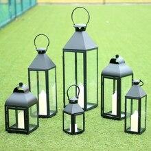 European Style Wind Wrought Iron Retro Candle Holder Wedding Centerpieces Christmas Metal Lantern In Home Lantern50x073