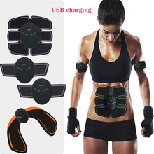 electric EMS wireless muscle stimulation trainer smart fitness abdominal training  ABS weight loss body slimming belt Unisex