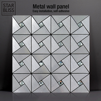 3D Metallic Geometric Pattern Wall Panel Wall Decor