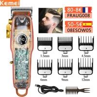 Tagliacapelli elettrico Kemei per uomo tagliacapelli elettrico tagliacapelli professionale tagliacapelli senza fili