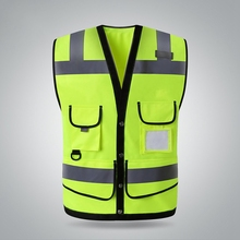 High Quality Breathable Reflective Vest With Pockets Visibility Safety Security Gear Outdoor Running Cycling Sport Clothing