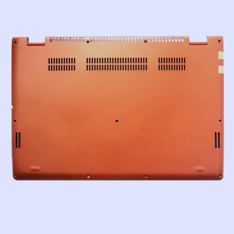 Новая Оригинальная ЖК-задняя крышка для ноутбука/передняя рамка/Упор для рук верхняя/Нижняя чехол для LENOVO Yoga 3-14 YOGA 700-14ISK серия - Цвет: orange bottom case
