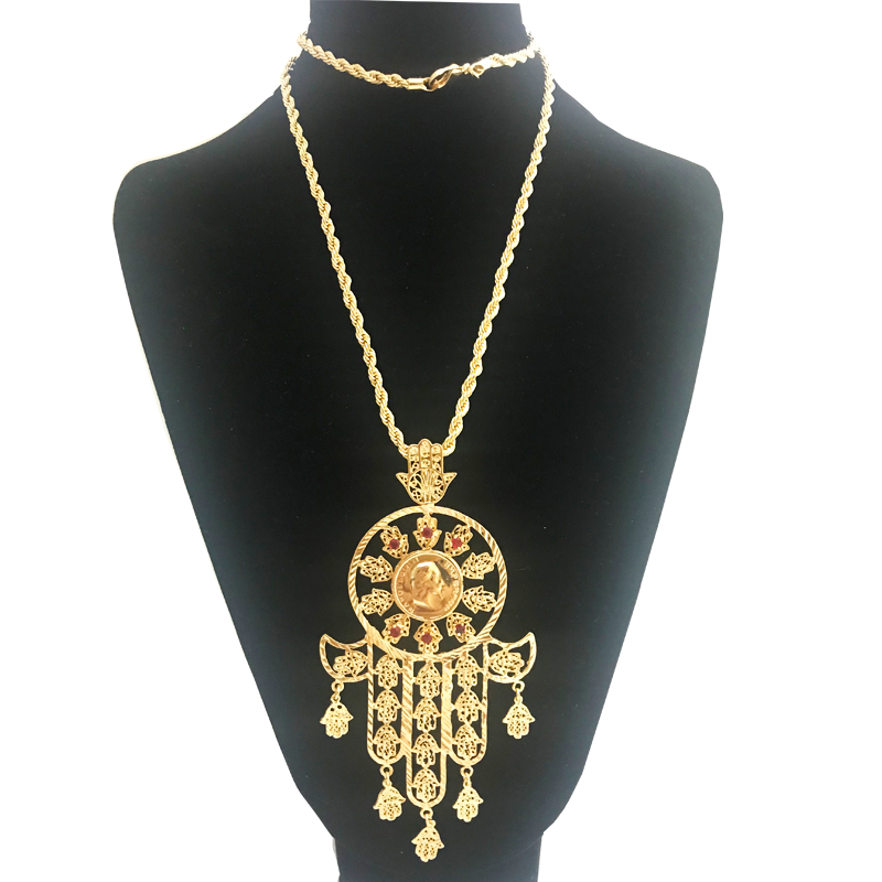 Fashion Hand Necklace For Women Collares Arabic Gold Color Hand of Fatima Pendant Necklaces,Collier Femme Palm Dropshipping Women Women's Accessories f02846ee759da375bf7e2a: Gold|gold 01