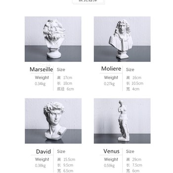 Northern Europe classical Figure plaster statue Fine decorate Resin Action Figure Collection Model Toy B142