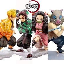 Anime 16cm demônio slayer kimetsu não yaiba figura kamado tanjirou figura de ação agatsuma zenitsu nezuko guerreiro pvc modelo brinquedos