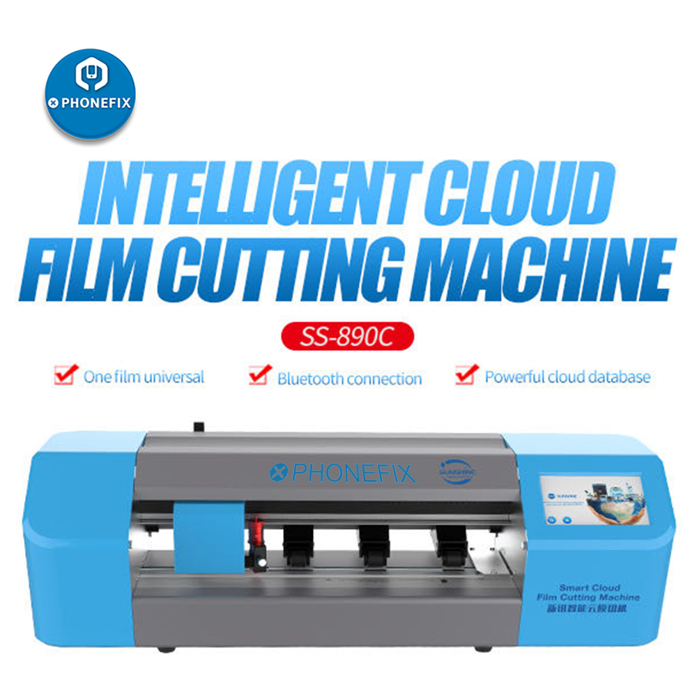 SUNSHINE SS-890C Auto Film Cutting Machine with Flexible Hydrogel Film for Ipad Mobile Phone LCD Screen Protect Film Cutting