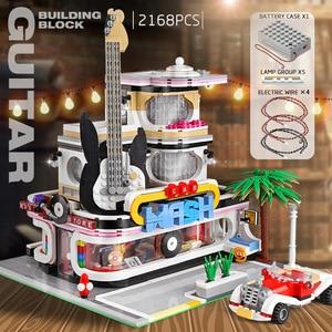 Image 5 - 16005 Streetview jouets de construction la Collection Antique boutique coin bureau de poste modèle blocs de construction enfants noël jouets cadeaux