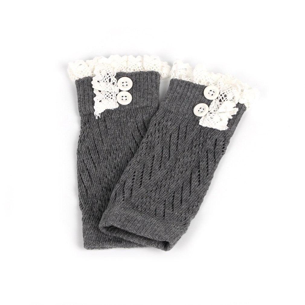 В европейском и американском стиле; модная удобная детская одежда для маленьких девочек вязаные крючком ботинки на шнуровке Теплые гетры; нарукавники гетры для малышей - Цвет: dark gray