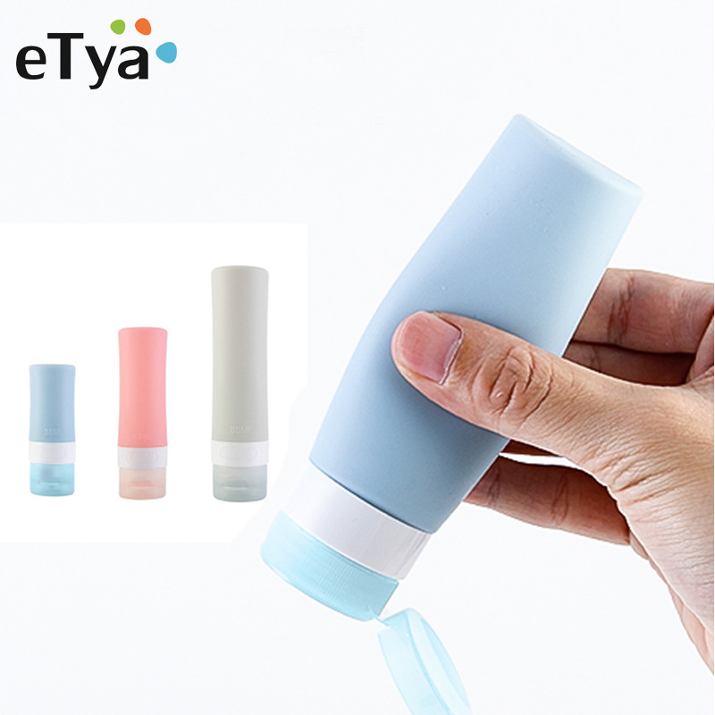 Fashion Women Silicone Travel Bottles Cosmetic Shampoo Lotion Container Tube Squeeze Packing Organizer Bag Travel Accessories
