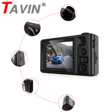 Dash Cam Rearview Car DVR Camera Dual Lens 1080P HD 2 Inch  Night Vision English Car Camera Auto Video Recorder G-sensor Parking 1080p hd 5 inch car dvr video night vision rearview mirror 170 degree wide lens dash cam camera recorder g sensor