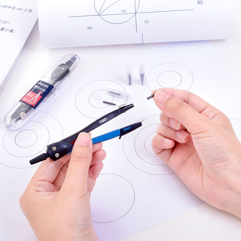 Deli 8646 Compasses Metal Mapping Students Circle Tool Exam For Profession Design Engineering Drawing Compasses