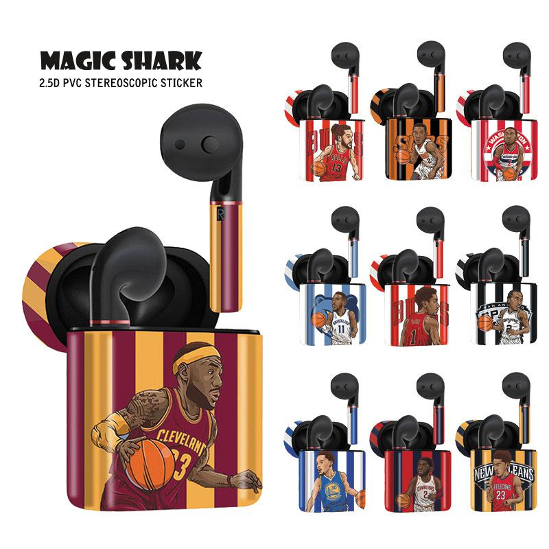 Magic Shark Basketball Super Star Full Case Cover Vape Sticker Skin Wrap Film for Huawei Freebuds