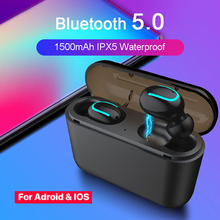 Q32 Earbuds Bluetooth 5.0 Wireless Headphone Earphone Sport Handsfree Active Noise Cancelling Gaming Headset for Android IOS daono v9 handsfree business bluetooth headphone with mic voice control wireless bluetooth headset for drive noise cancelling