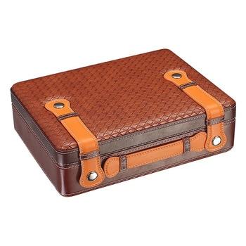 Yooap New portable cigar box 30 capacity portable cigar humidifier travel cigar box gift for boyfriend