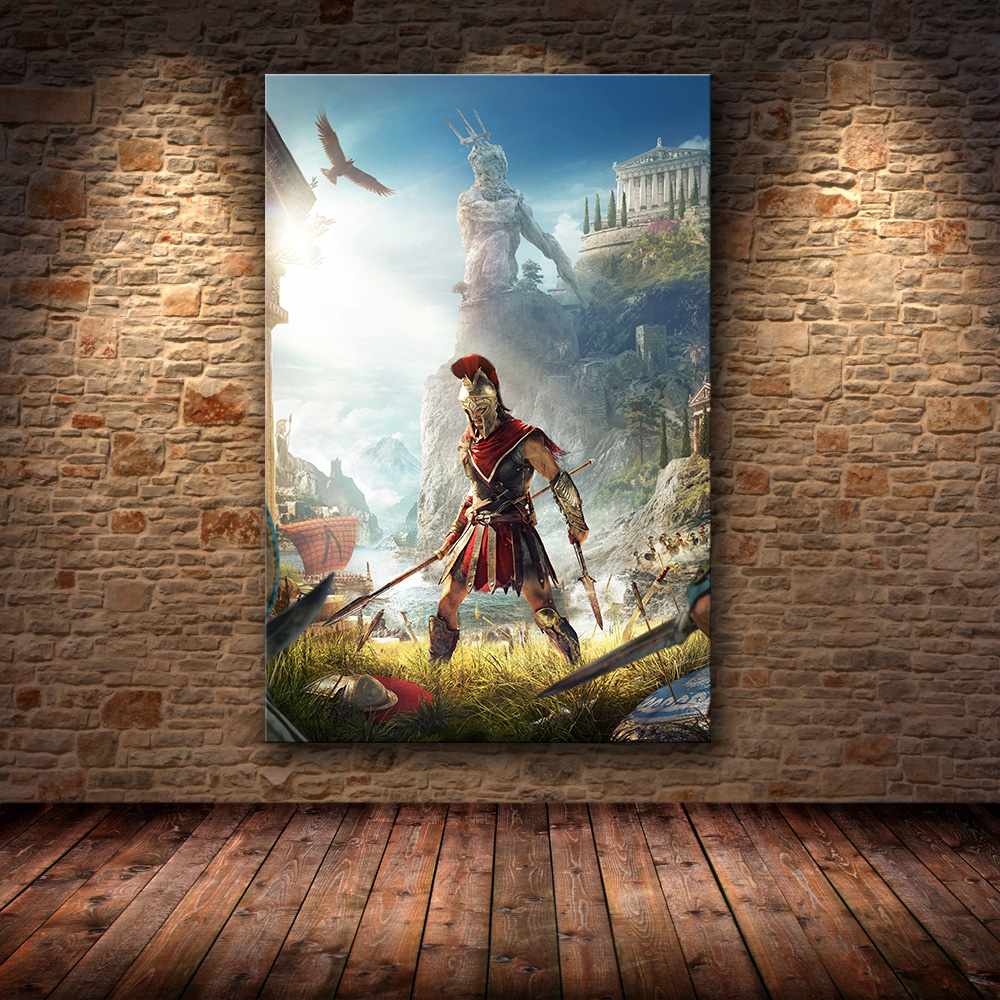 Unframed The Poster Decoration Painting Of Assassin S Creed Odyssey Origins On Hd Canvas Canvas Painting Art Posters And Prints Painting Calligraphy Aliexpress