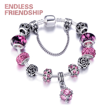 European Plated Silver Snake Chain Link Bracelets Fit Original Brand For Women Charm Bracelet Dropshipping