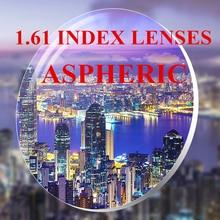 High Quality 1.61 Index ASPHERIC Optical prescription HD Resin Lens for Myopia and Presbyopia