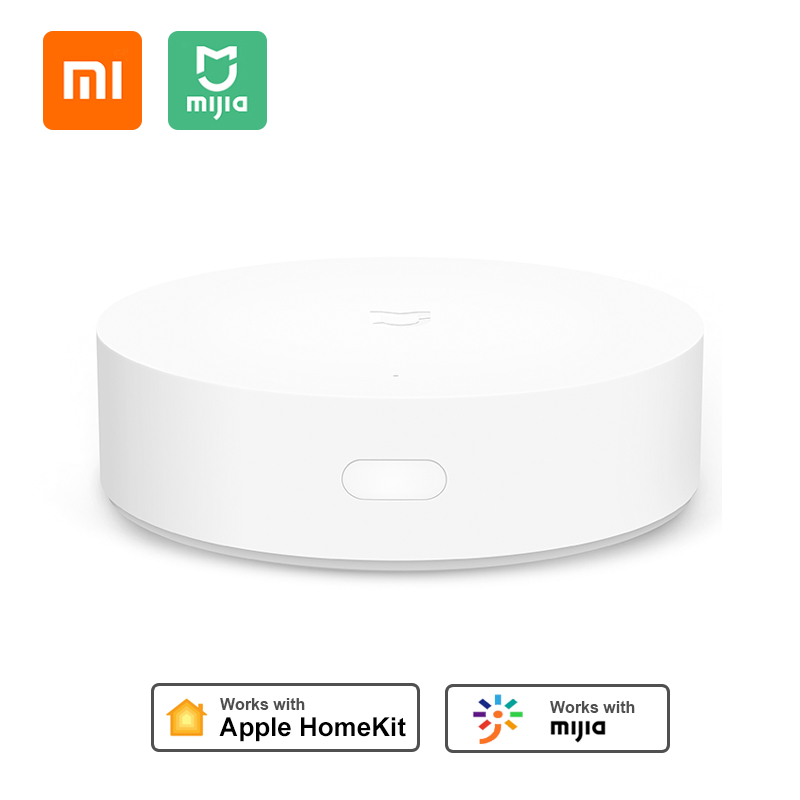Xiaomi Mijia puerta de enlace multimodo 3 WIFI Bluetooth malla Hub Control remoto por voz funciona con Mi APP de inicio Apple Homekit Sensor de movimiento 100% Aqara ZigBee, Sensor de cuerpo humano, conexión inalámbrica de seguridad con movimiento, entrada de luz de intensidad 2 Mi, aplicación para hogares