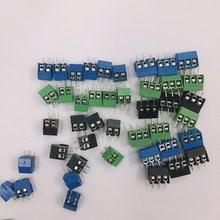 50 pces KF350-3.5-2P KF350-3P terminal 300v 10a parafuso 2,3pin 3.5mm conector de emenda de parafuso terminal para placa de circuito