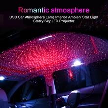 Потолочный светильник на крыше автомобиля, светодиодный мини-светильник для интерьера, Звездный лазер, атмосферный прожектор, светильник s USB, автомобильная декоративная лампа, ночник, Galaxy Lam