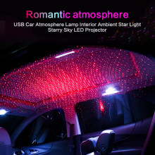 Car Roof Star Light Interior Mini LED Starry Laser Atmosphere Ambient Projector Lights USB Auto Decoration Lamp Night Galaxy Lam(China)