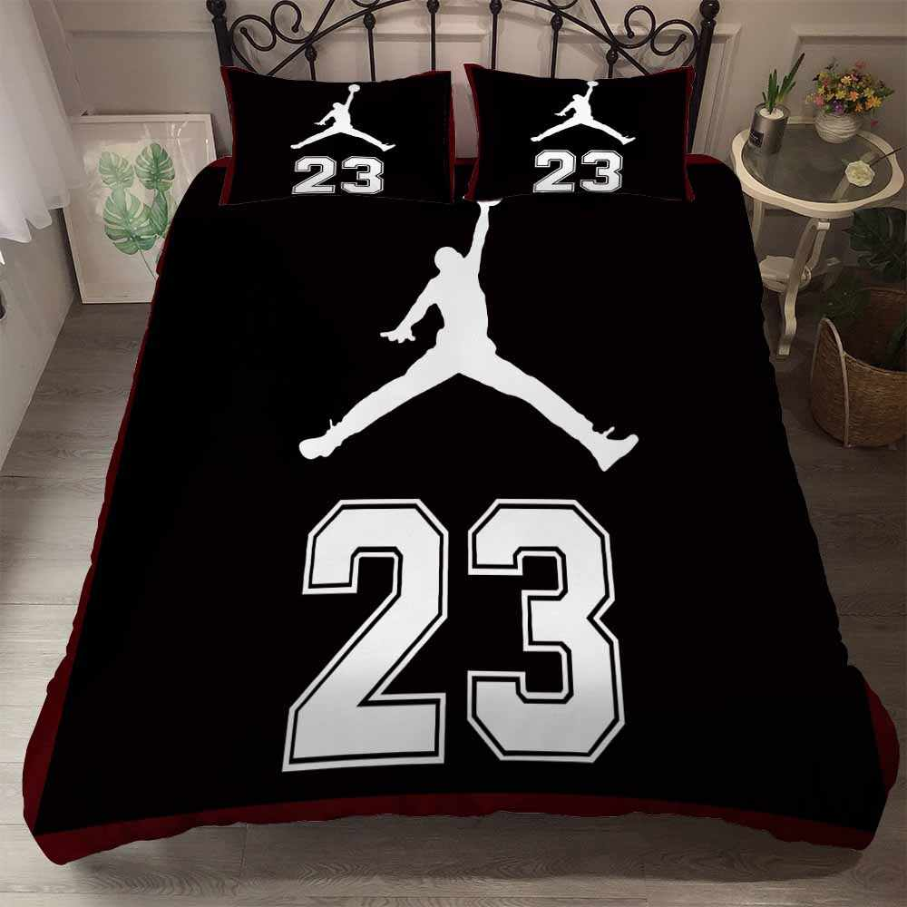 Sports Star Bedding Set Full Queen Size Comforter Set Athletes Sports Shoes Printing Duvet Cover Set 2/3PCS Home Bed Linen Set