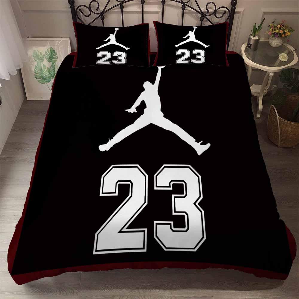 Sports Star Bedding Set Full Queen Size Comforter Set Athletes Sports Shoes Printing Duvet Cover Set 2/3PCS Home Bed Linen Set