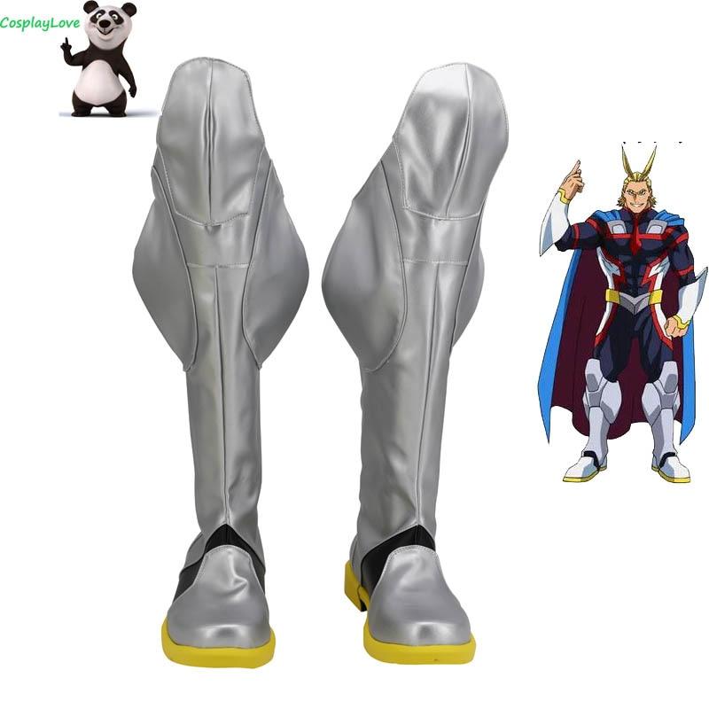 My Hero Academia: Two Heroes Boku No Hero Akademia All Might Toshinori Yagi Sliver Cosplay Shoes Boots Custom Made CosplayLove