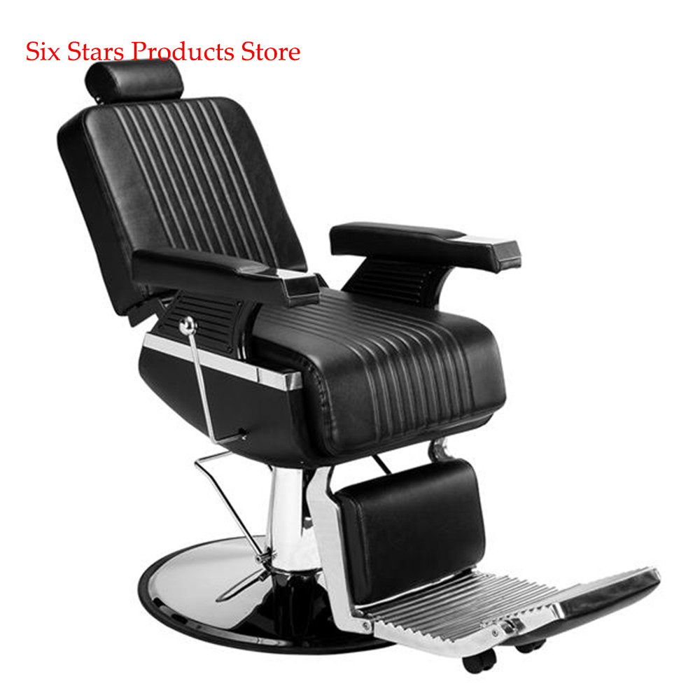 Free Shopping Hydraulic Men's Hairdressing Barber Chair High-End Reclining Black Salon Modern Hairdresser Tattoo Shaving Chair