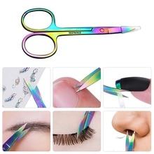 1Pc Mutifunctional Stainless Steel  Eyebrow Nose Hair Scissors Cutter  Manicure Facial Trimming Tweezer Makeup Nail Tools