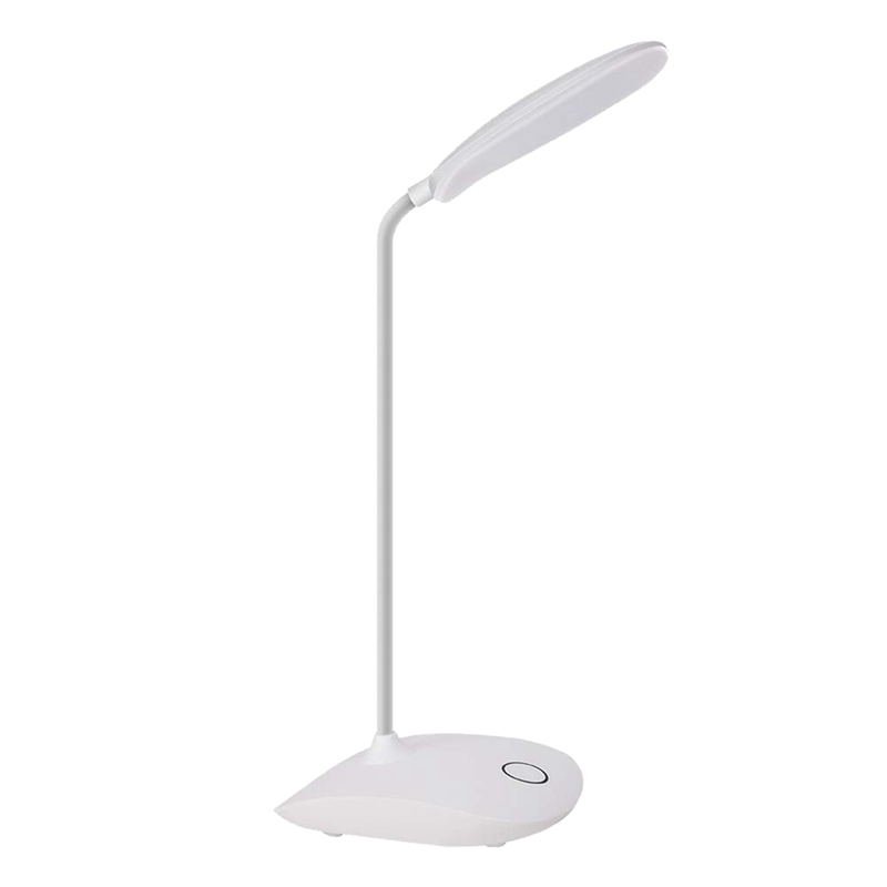 Led Desk Lamp With Flexible Gooseneck 3 Level Brightness,Operated Table Lamp Press Control,Compact Portable Lamp For Dorm Study