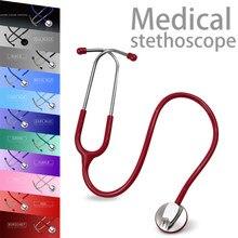 Estetoscopio médico de una sola cabeza, Estetoscopio médico profesional con corazón, enfermera, estudiante, con etiqueta de nombre