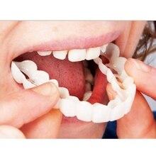 Silicone Bottom Upper False Teeth Veneers Dentures Fake Tooth