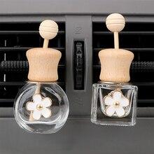 Вентиляционный Выход орнамент освежитель воздуха для распылитель эфирных масел пустая стеклянная бутылка автомобильный ароматизатор на клипсе аромат