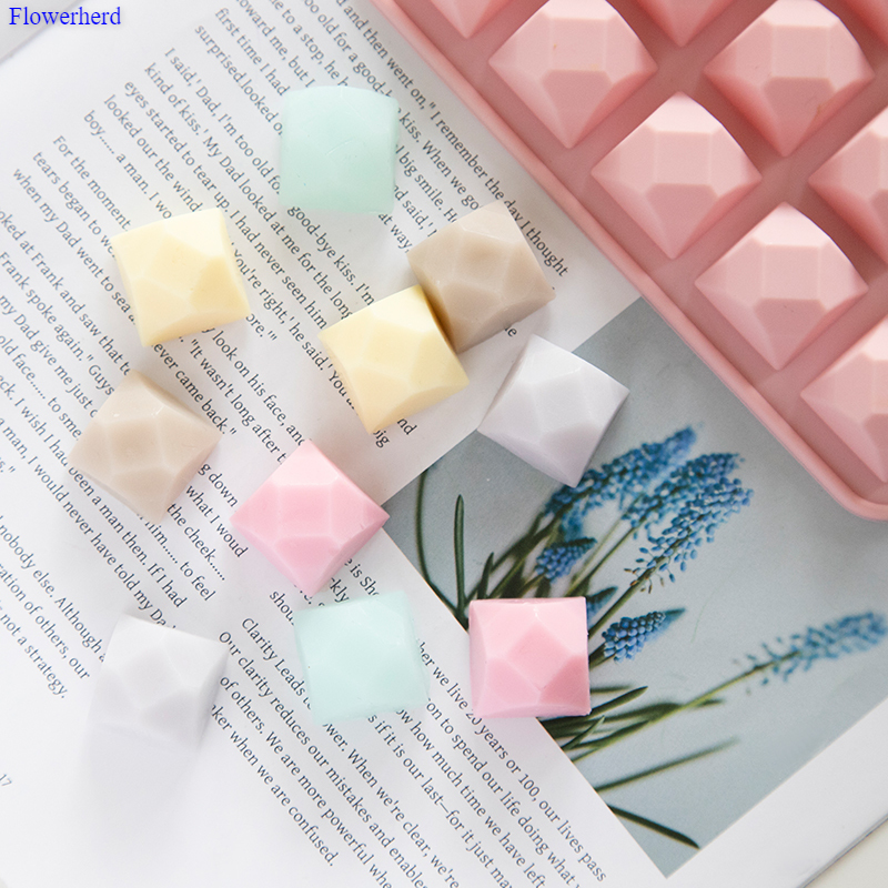 Twenty Cavities Polygon Silicone Soap Mold Handmade DIY Soap Making Supplies Chocolate Cake Mold Cookie Stencil Cake Decor