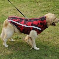 Граффити зимняя одежда для больших собак куртка для щенков теплая хлопковая одежда для животных жилет светоотражающее пальто наряд для мал...