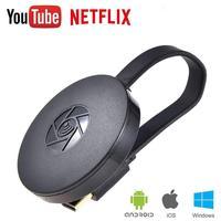 HDMI Visor do Receptor Sem Fio Adaptador Wi-fi 1080P Tela Do Celular Elenco Espelhamento Dongle DLAN exibição Empurrador para Netflix YouTube