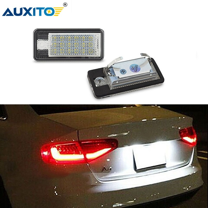 Error Free LED Number License Plate Light Auto Lamp For <font><b>Audi</b></font> A3 A4 S4 RS4 B6 B7 A6 RS6 S6 C6 A5 S5 2D Cabrio Q7 <font><b>A8</b></font> S8 RS4 Avant image