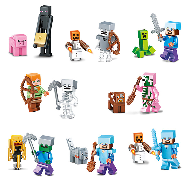 2019 NEW MinecraftING Farm Animals Sets Figures Building Blocks Educational Toy For Children Compatible LegoING Christmas Gift