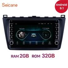 Seicane para Mazda 6 Rui ala 2008, 2009, 2010, 2011-2014 Android 9,1 GPS de navegación del coche unidad jugador estéreo 2DIN RAM 2GB ROM 32GB