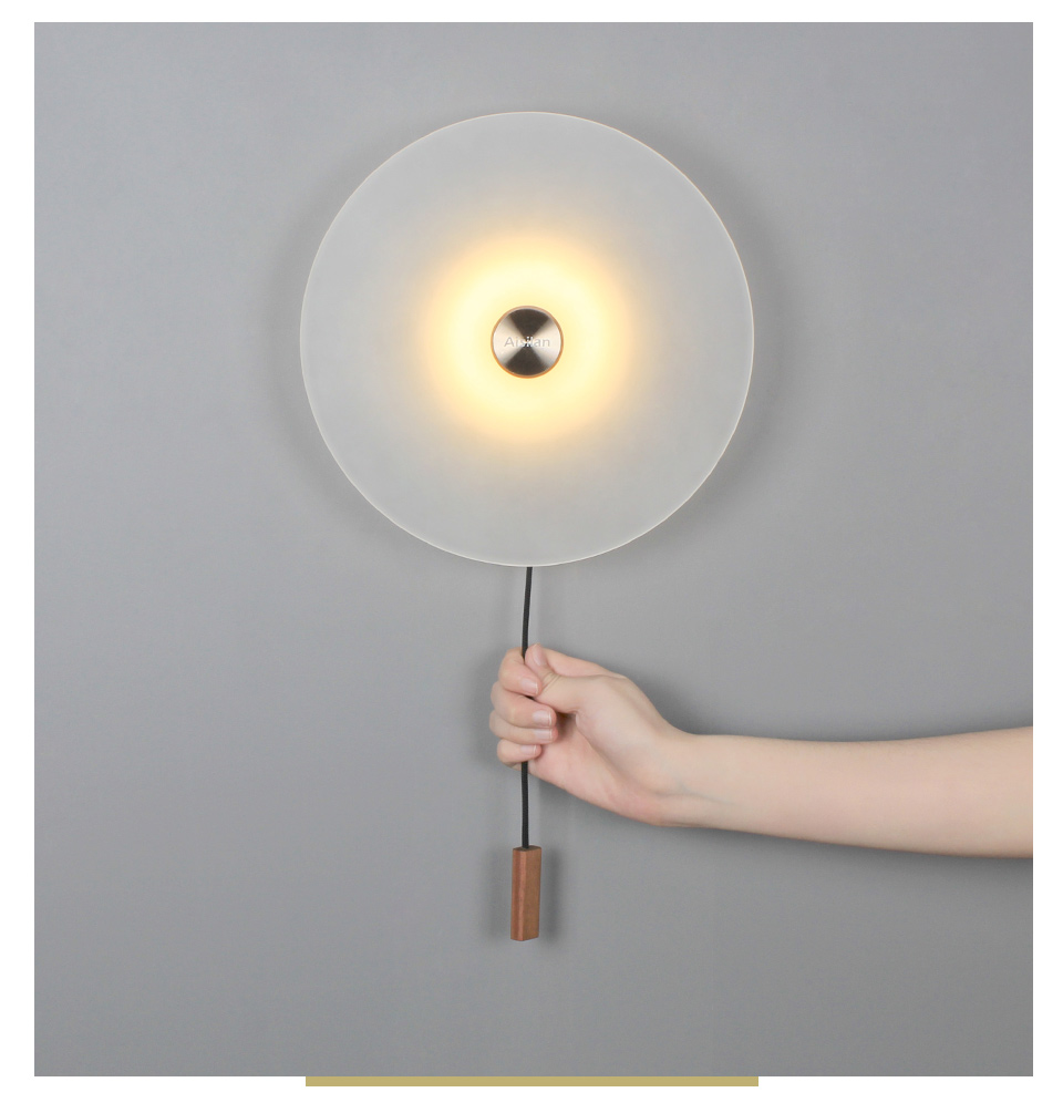 H3efea2fbe8764d5da5b29497e52314919 - Aisilan LED wall Light Nordic light luxury bedroom bedside lamp with switch entrance porch wall lamp