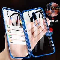 Double-sided Magnetic 360 Full Protect Case for Xiaomi Pocophone F1 Tempered Glass Back +Front Cover Mi POCO F1 Transparent Case