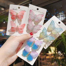 New Women Colorful Butterfly hairpin Girls Cute Alloy Barret
