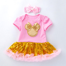 цена на Baby Summer Clothes Baby Clothes Set  Newborn Girl Clothes Classic Cartoon Mickey Skirt Set Baby Suit