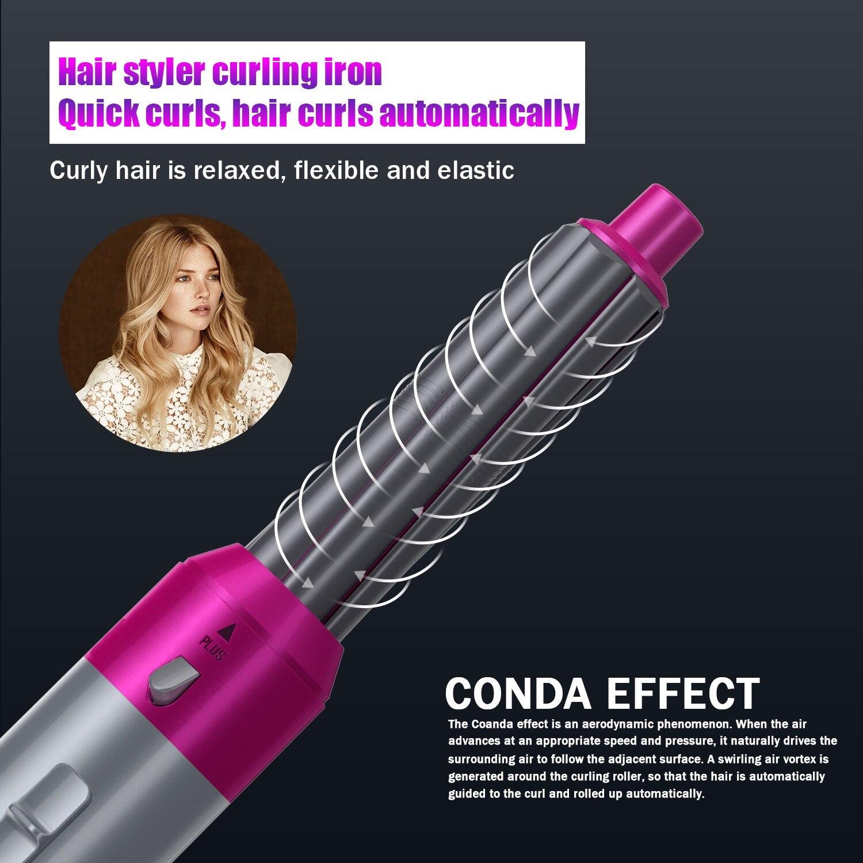 5 em 1 secador de cabelo escova