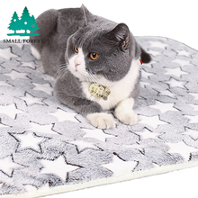 Small Forest Soft Flannel Pet Mat Four Seasons Ice Double Rattan
