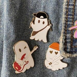 Жёсткая эмалированная брошь на лацкан Julie and The Phantoms Ghost Band|Броши|   | АлиЭкспресс